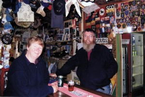 The wonderful bar of the William Creek pub on the Oodnadatta Track in South Australia