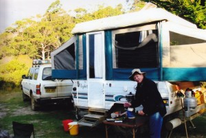 Our camp at Cockle Creek  in the south-east of Tasmania.