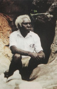 Senior traditional owner of Mt Borradaile, Charlie Mangulda. Image courtesy of Davidson Arnhemland Safaris